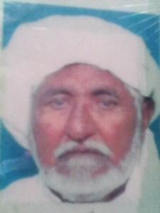Allah Yar s/o malik jiwan Bourana  1950 ---25-12-2013 (Siddu Adda)